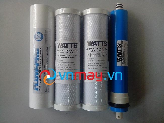 Các cấp lõi lọc, màng lọc RO Watts nhập khẩu từ Mỹ