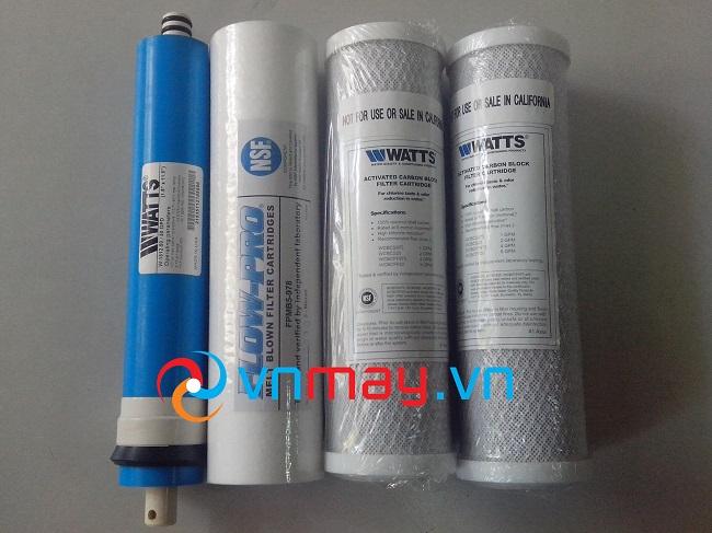 Bộ lõi lọc nước, màng lọc RO của hãng Watts nhập khẩu Mỹ