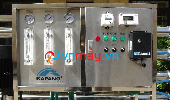 Bảng điều khiển của Hệ thống máy lọc nước tinh khiết 3000 lít/giờ Kapano